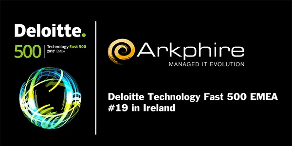 Arkphire ranked as one of the fastest-growing European companies on the Deloitte Technology Fast 500 EMEA list
